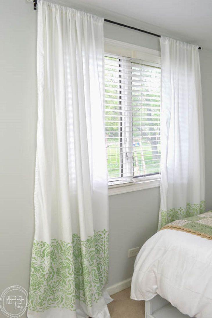 10 Diy Curtain Makeover Projects ~ Cortinas Para Dormitorio Principal