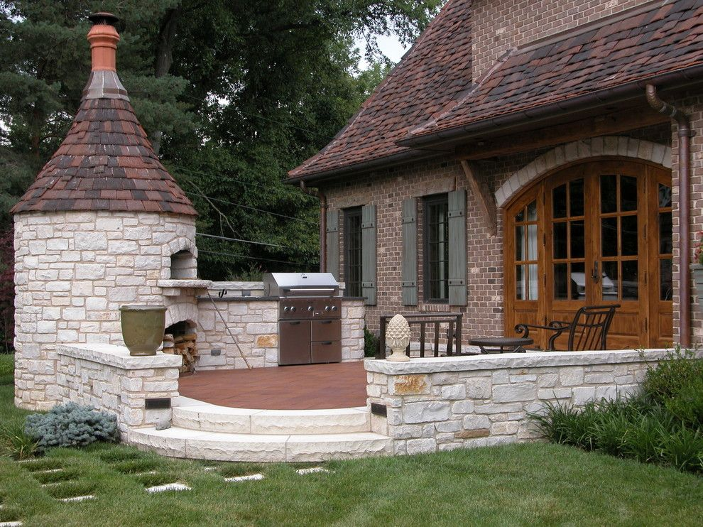 Arched Door Backdoor BBQ Brick House Brick Oven Fire Oven French Doors  Grass Low Wall Outdoor Furniture Path In Lawn Patio Patio Furniture Pavers  Pizza Oven ...