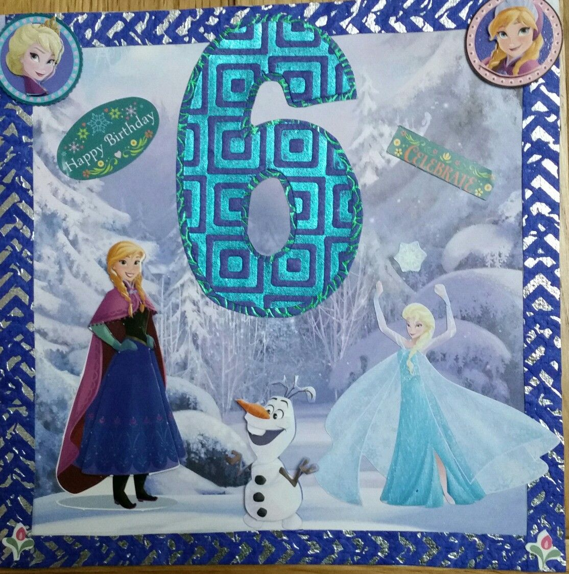 frozen card for my neice's 6th birthday  frozen cards