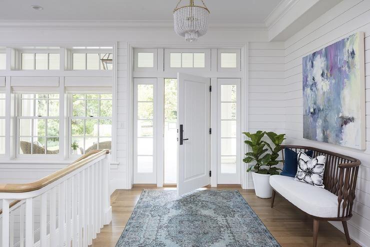 White Foyer Lighting : Blue foyer rug foyers pinterest white shiplap and