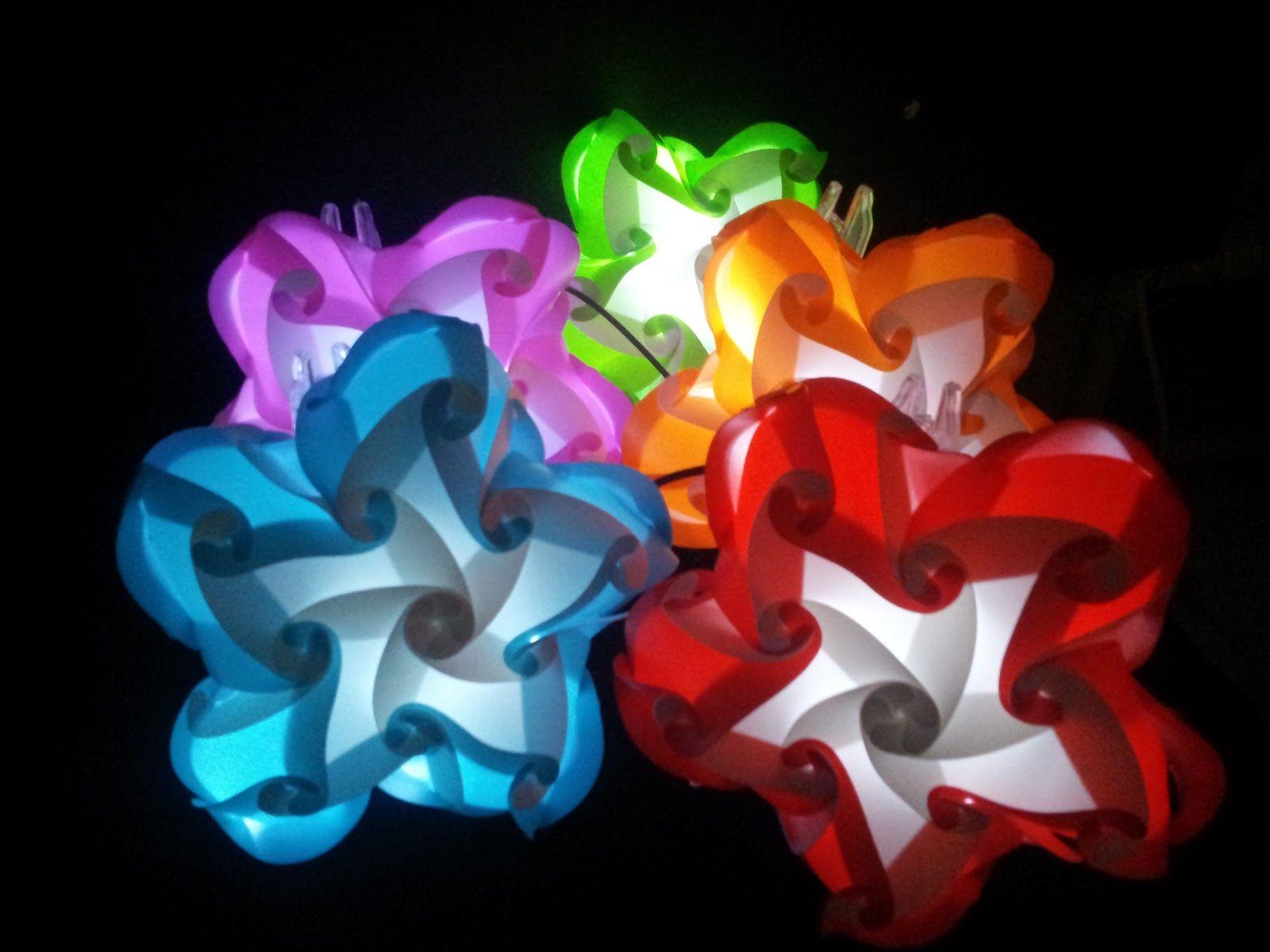 Vlightdeco Iq Light Puzzle Pendant Jigsaw Lamp Styles Iq Light Jigsaw Lamp Vlightdeco Mini Flower Light Origami Lamp Crafts Flower Lights