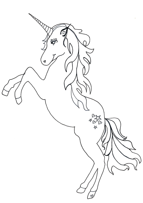 Unicorn Coloring Page Stitch Coloring Pages, Unicorn Coloring Pages,  Cartoon Coloring Pages