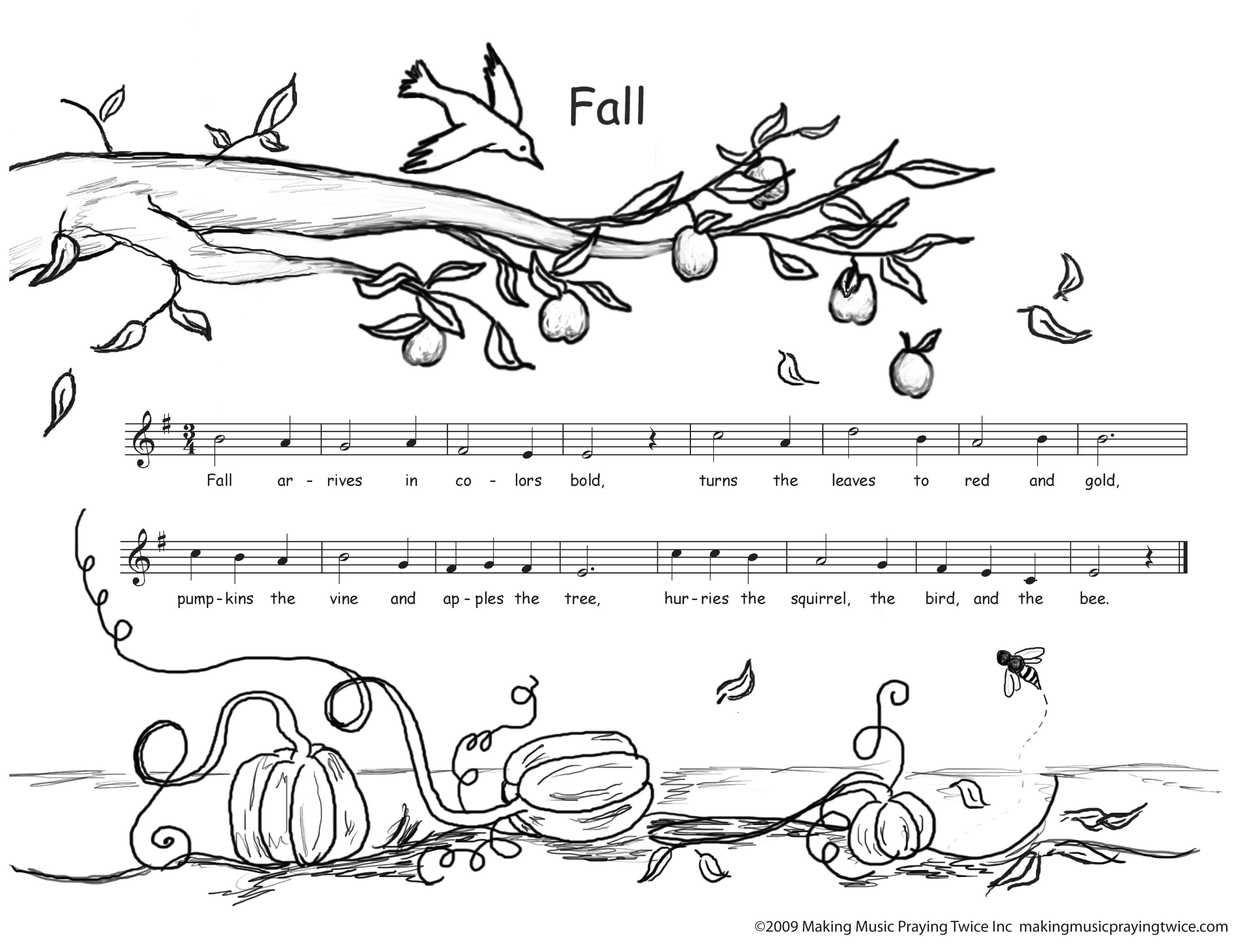 Autumn Coloring Pages Free Downloadable Coloring Pages