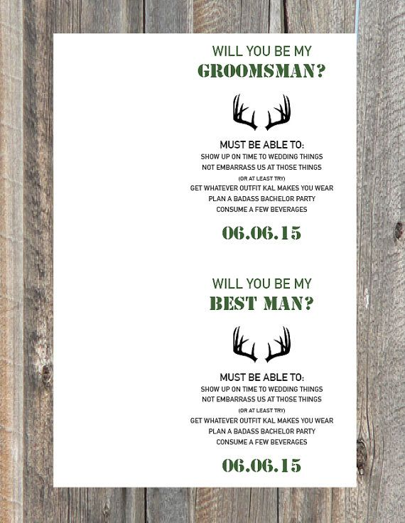 image regarding Printable Man Card titled Searching Groomsman/Least complicated Male Card - Will your self be my Groomsman