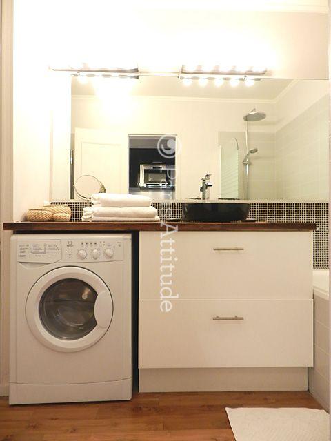avec lave linge salle de bains. Black Bedroom Furniture Sets. Home Design Ideas