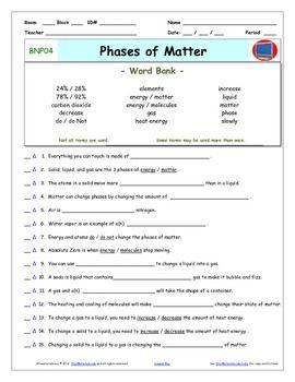 Worksheets Bill Nye Matter Worksheet bill nye phases of matter worksheet cells video samsungblueearth