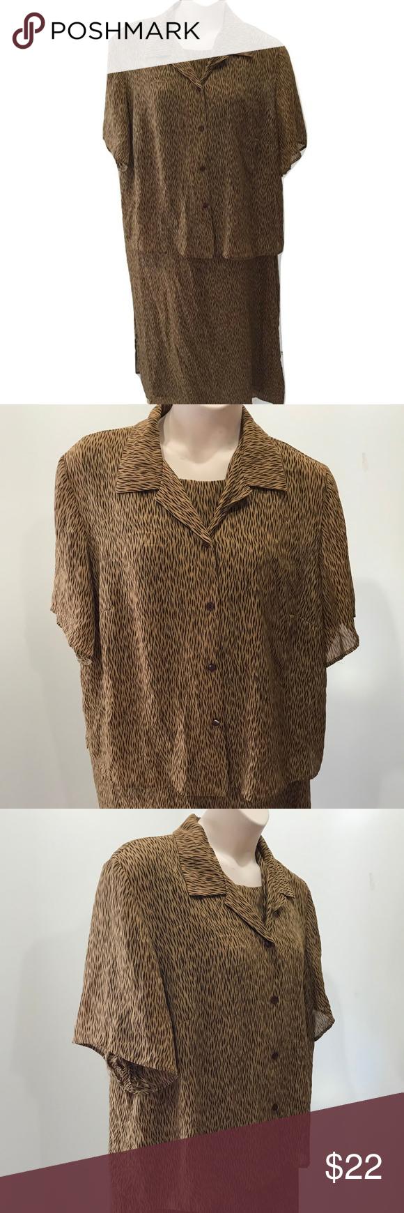 Sag harbor size w jacket dress brown maxi plus my posh closet