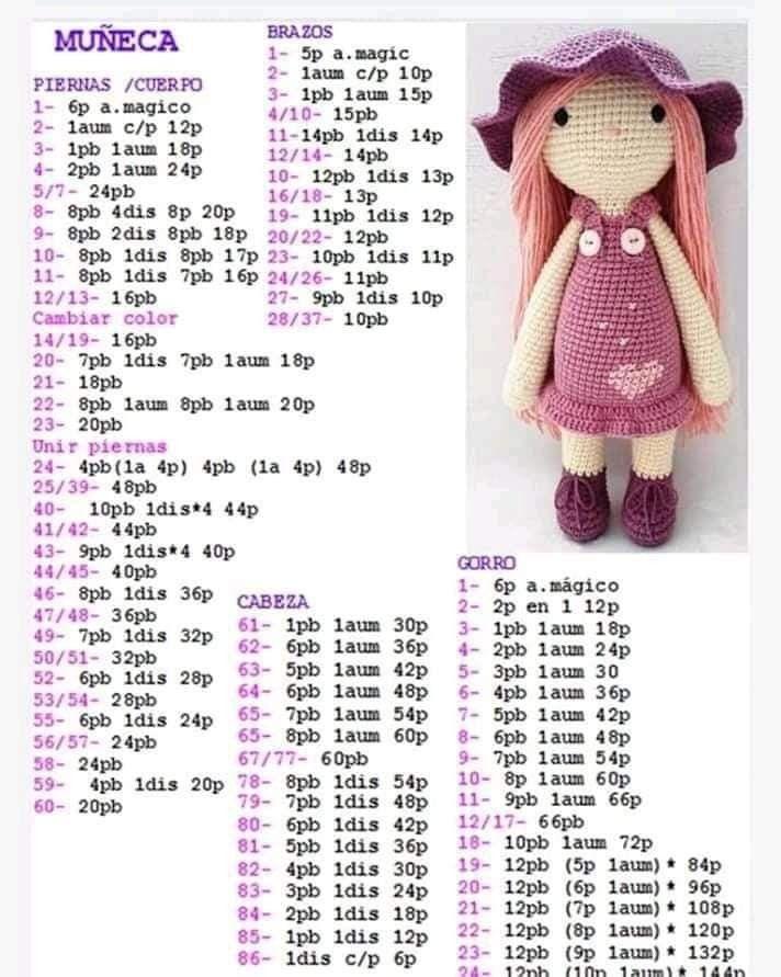 Amigurumi doll in ladybug costume | Boneca amigurumi, Joaninha de ... | 891x712