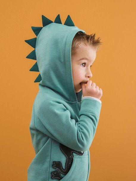 dinosaure  garcon  Gilet zippé garçon à capuche vert Style craquant assuré  avec ce 4030ae44802