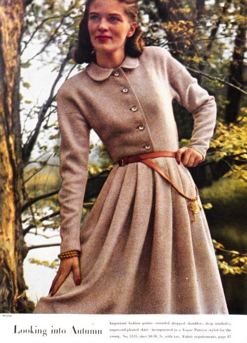 Leather belt with decoration featured in British Vogue, 1946.