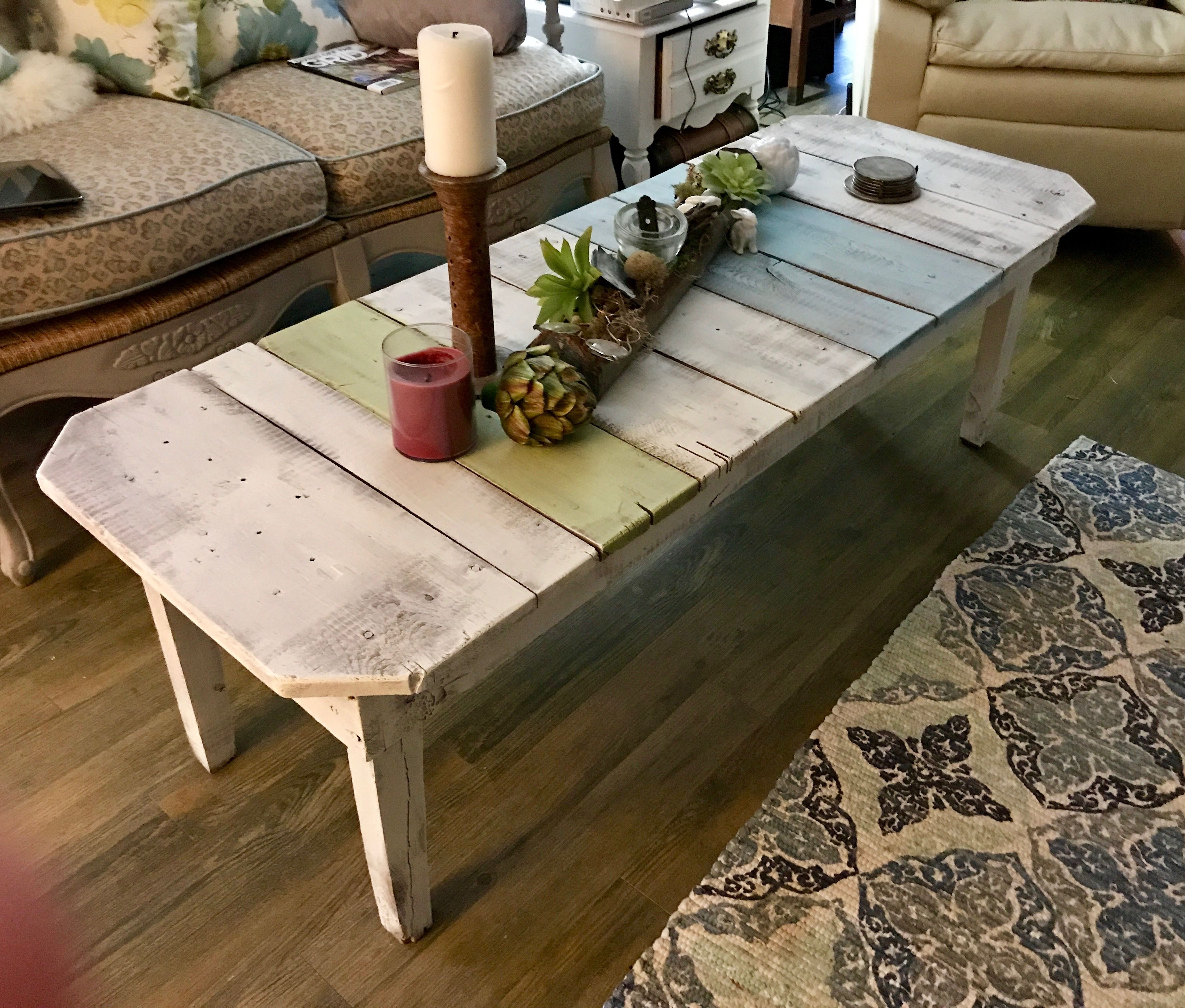Fun Repurposed Wooden Plank Table Shabby Chic Farmhouse Chic Shabby Chic Farmhouse Plank Table Decor [ 3024 x 3555 Pixel ]