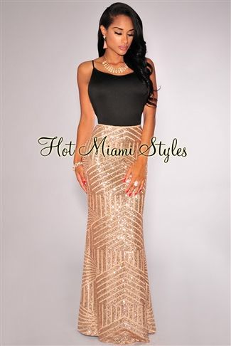0d72d42623bf Rose Gold Sequined Nude Illusion Maxi Skirt sexy Womens clothing clothes  hot miami styles hotmiamistyles hotmiamistyles