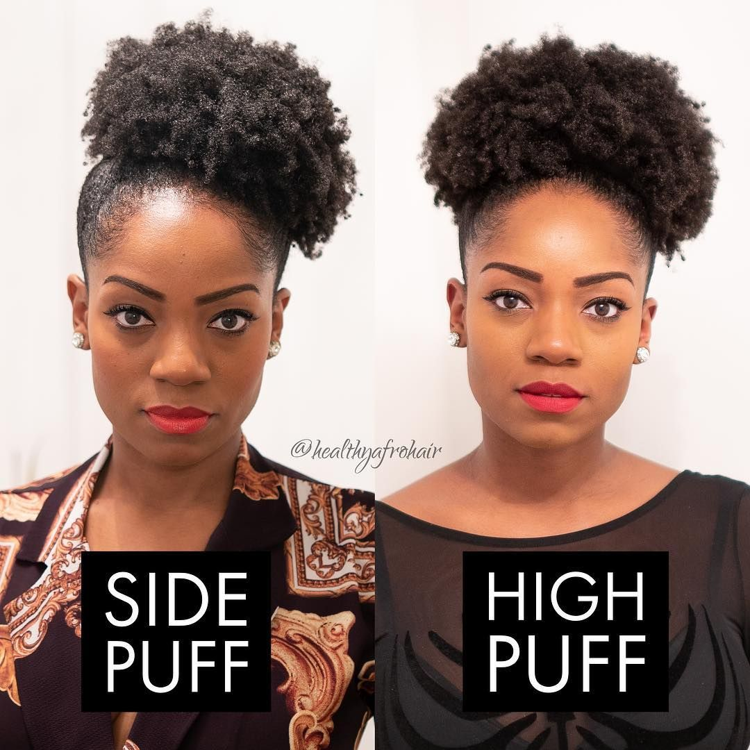 Healthy Afro Hair On Instagram Throwback Side Puff Or High Puff Which Do You Prefer Natural Hair Puff Natural Afro Hairstyles Hair Puff