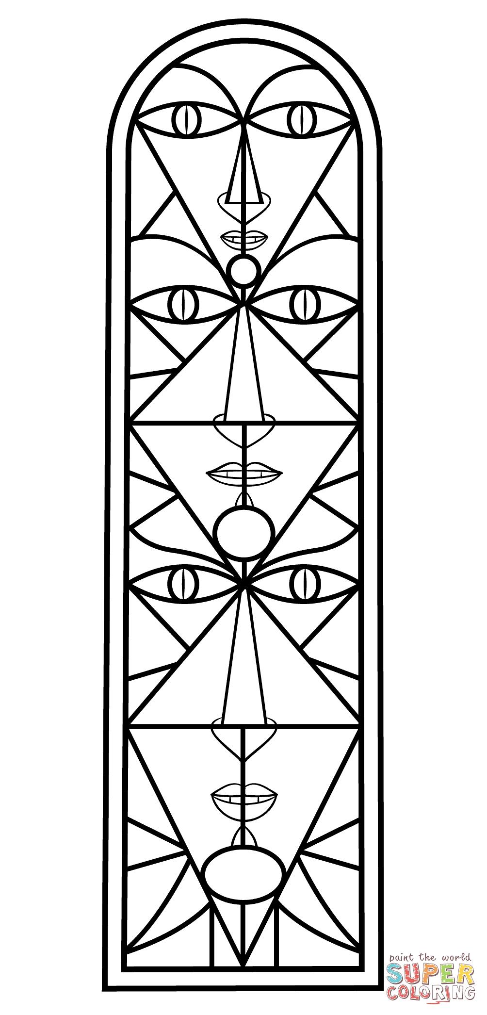 Disegno Da Colorare Di Vetrata Di Jean Cocteau Categorie Vetrata