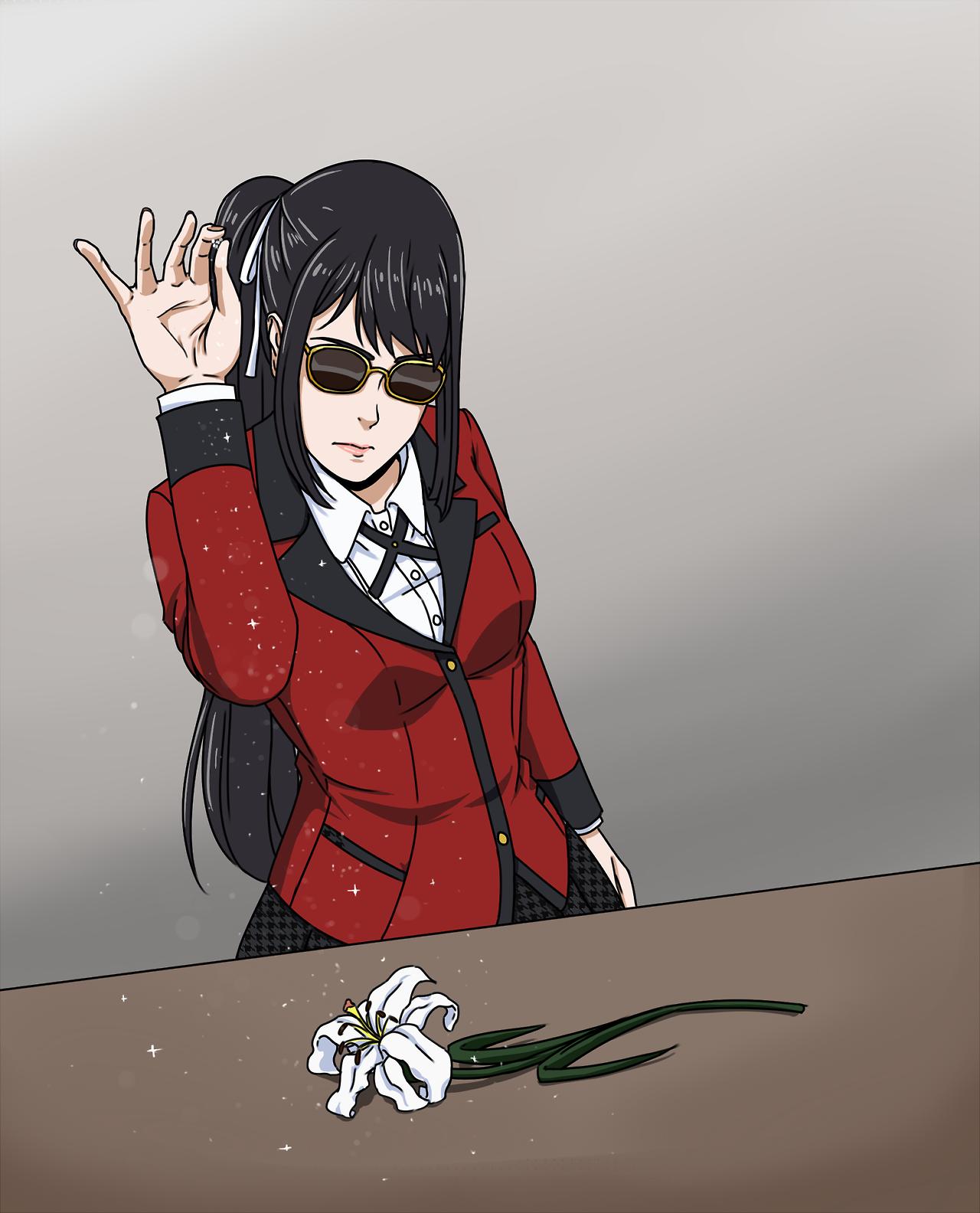 IM CRYING Kakegurui Kirasaya Kirari Momobami Sayaka Igarashi Gambling Girlfriendstumblr