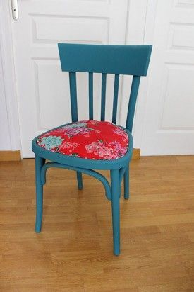 Diy d co pour relooker une chaise en bois l 39 agenda de la nantaise chir redo pinterest - Relooker une chaise en bois ...