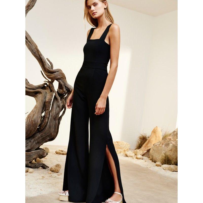 a700354196e6 Alexis Clothing  Juno Side Slit Jumpsuit Black  Jumpsuits
