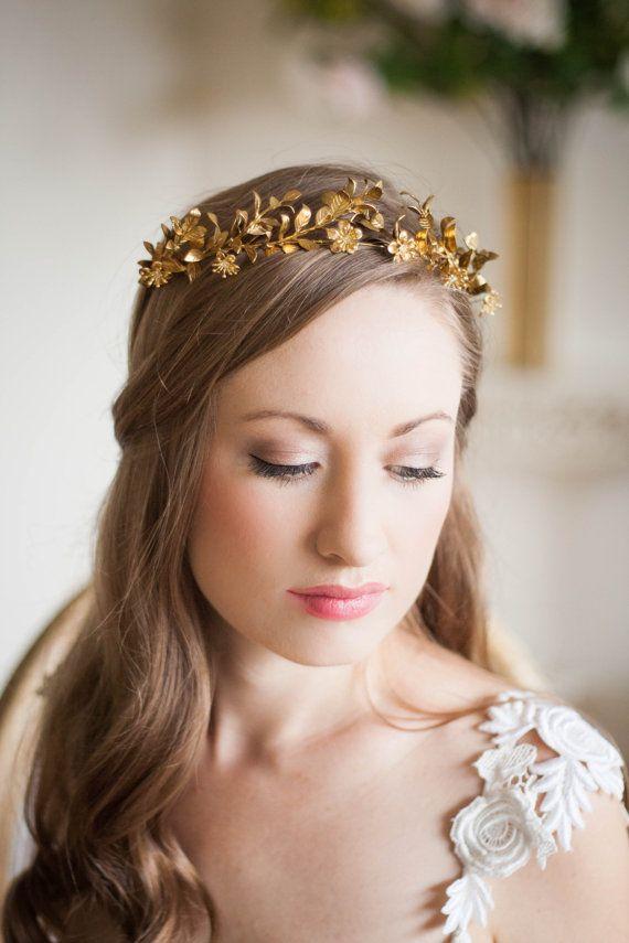 Leaf Crown Headband Tiara Headpiece Goddess Crown Headdress Crown Costume Headpiece Luxury Headband Womens Hair Accessories