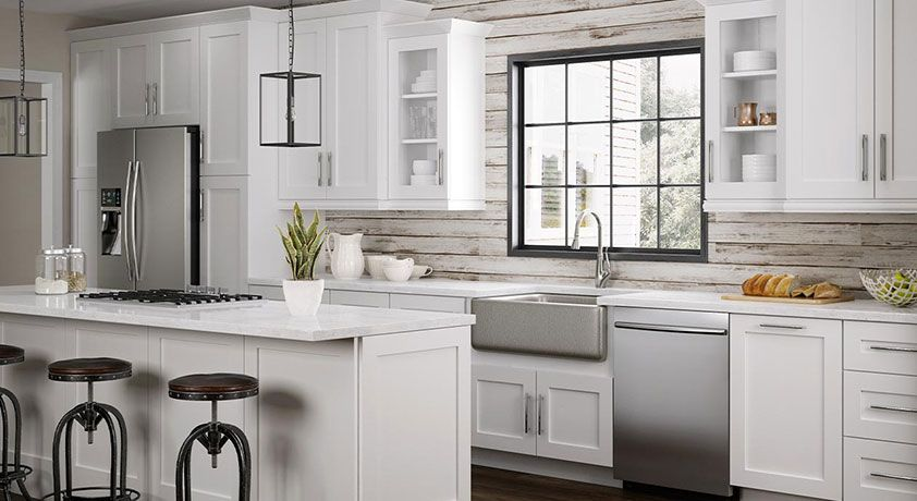 Best Newport Pacific White Home Decorators Cabinetry Cheap 400 x 300