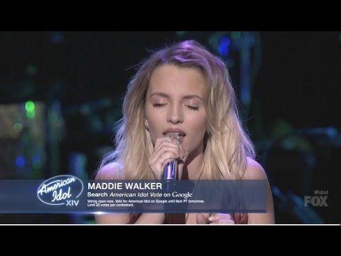 Maddie Walker - I'll Be There - American Idol (Top 8 Girls) - YouTube