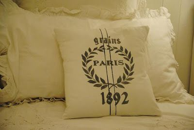 Shabby Soul:Old French Linen Pillow DIY Tutorial