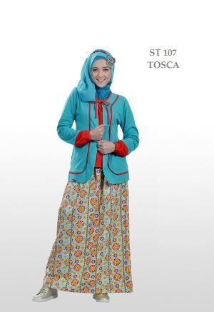 Baju Muslim Wanita Ethica Stelan ST-107 Toska