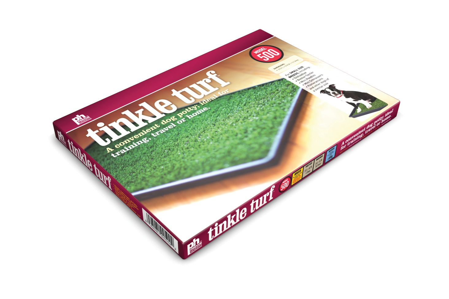 Tinkle Turf - a convenient dog potty; ideal for training, travel or home.  Available in three sizes!