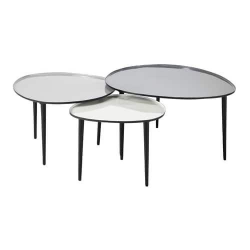 3 Metalen In Elkaar Te Schuiven Salontafels B 59 Cm A B 75 Cm Table Basse Gigogne Table De Salon Tables Gigognes