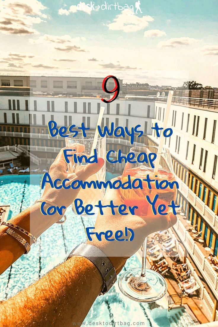 One of the biggest costs for most travelers is lodging, but did you know that there are some tricks to get cheap accommodation or even free accommodation? #travel #budgettravel #vacation #cheaplodging #budgetvacation #cheapaccommodation