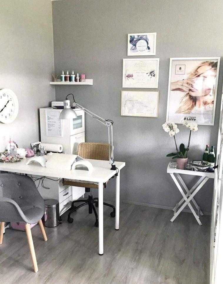 Nail Salon Decorating Ideas Awesome Nice Small Space Nail Technician Room Idea Nail Salon Decor Home Beauty Salon Home Nail Salon