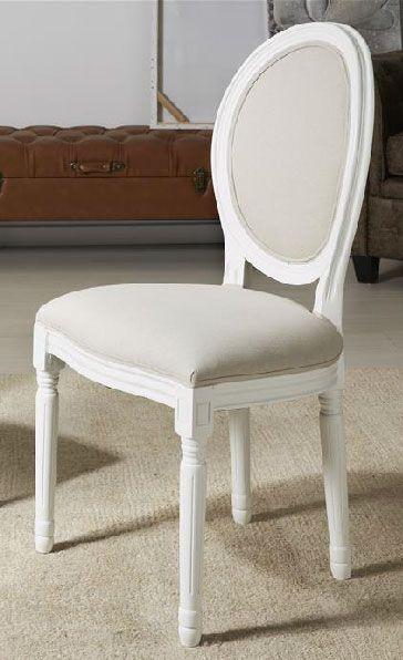Silla clasica blanco bordon for Comedor pequea o 4 sillas