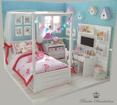 OOAK Diorama Shabby Dreams Amy (5) #barbiefurniture