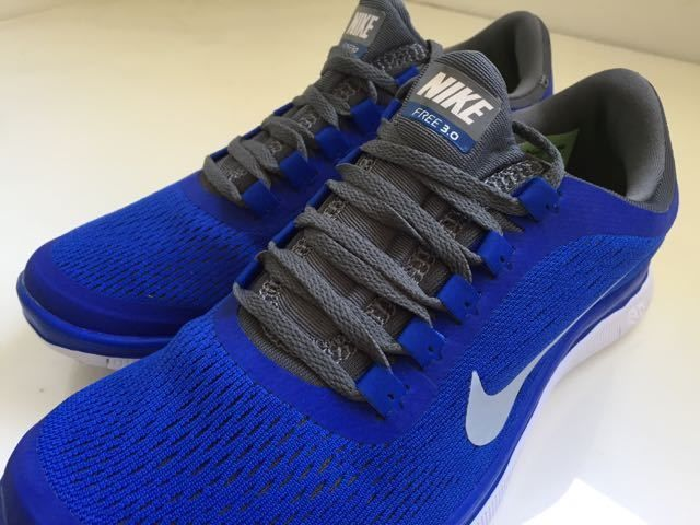 info for 33ff8 922d0 Nike Free Run 3.0 V5 Women Shoes. New. US size 8. Royal Blue and Dark Grey