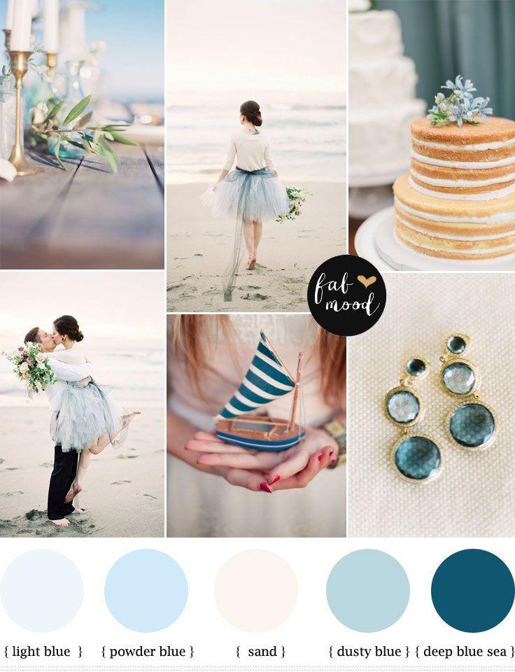 Dusty Blue Beach Wedding Blaue Hochzeitsstrausse Strandhochzeit