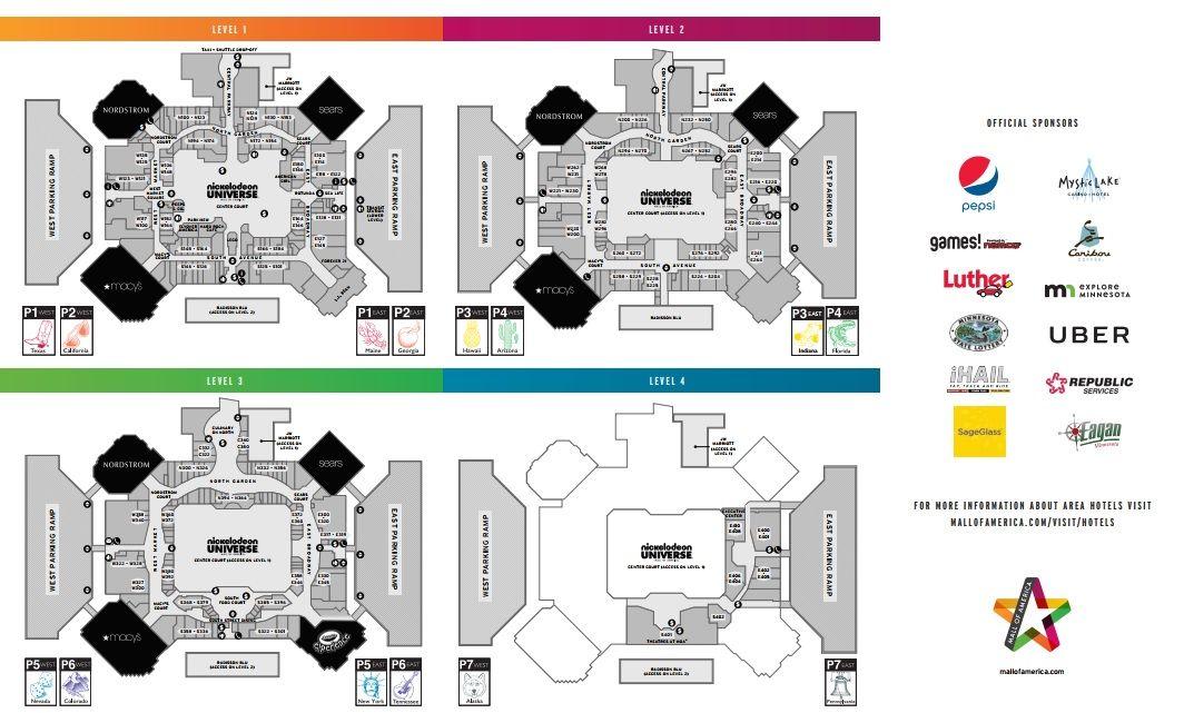 Mall Of America Map Mall of America shopping plan | Mall of america, Mall, America map