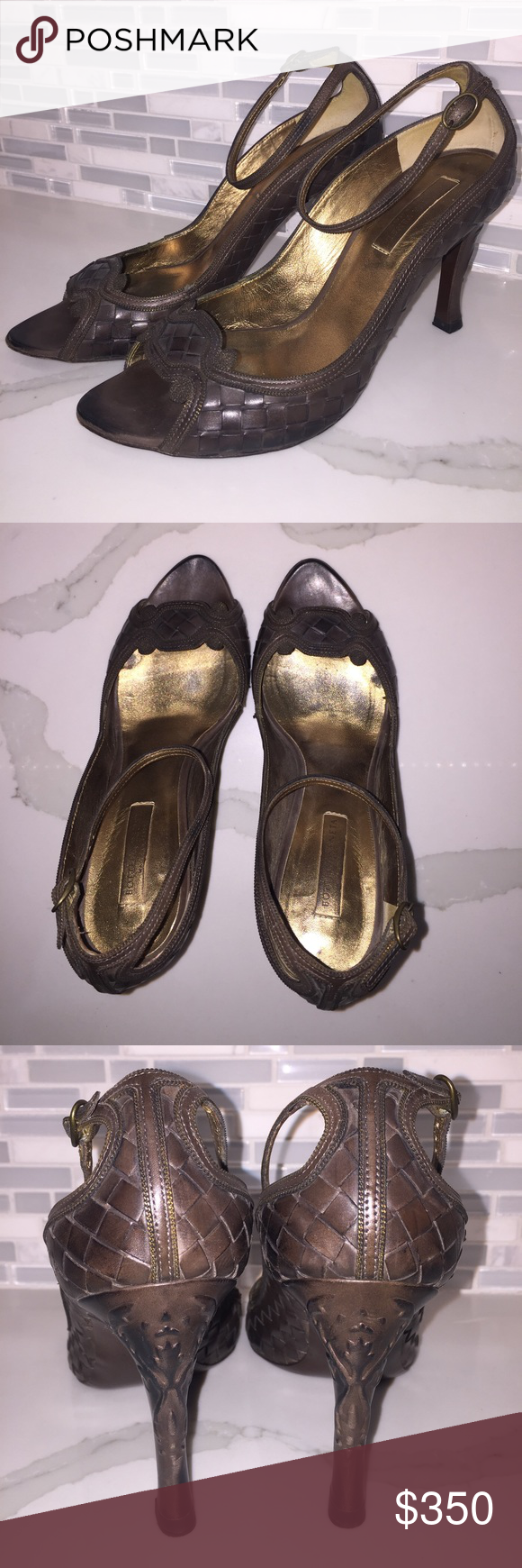 Bottega Veneta heels Beautiful Bottega Brown high heels like new. Bottega Veneta Shoes Heels