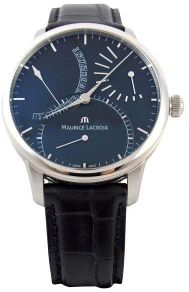 95ea97ede3 Maurice Lacroix Masterpiece MP6508 Black Dial Stainless Leather 44mm Mens  Watch