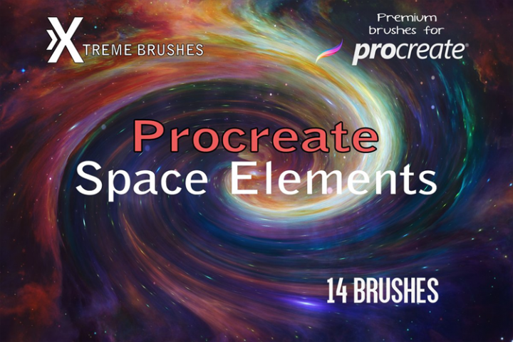 Procreate Space Elements | Procreate Brushes | Space artwork, Tool