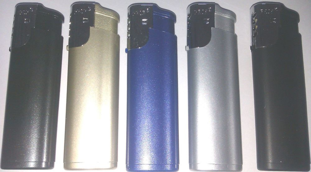 3 x windproof lighters metallic colour by prof gas