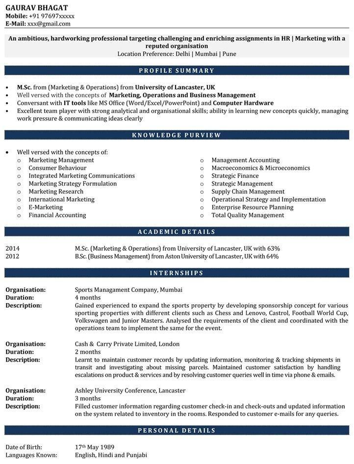 internship resume samples resume for internship cv for in