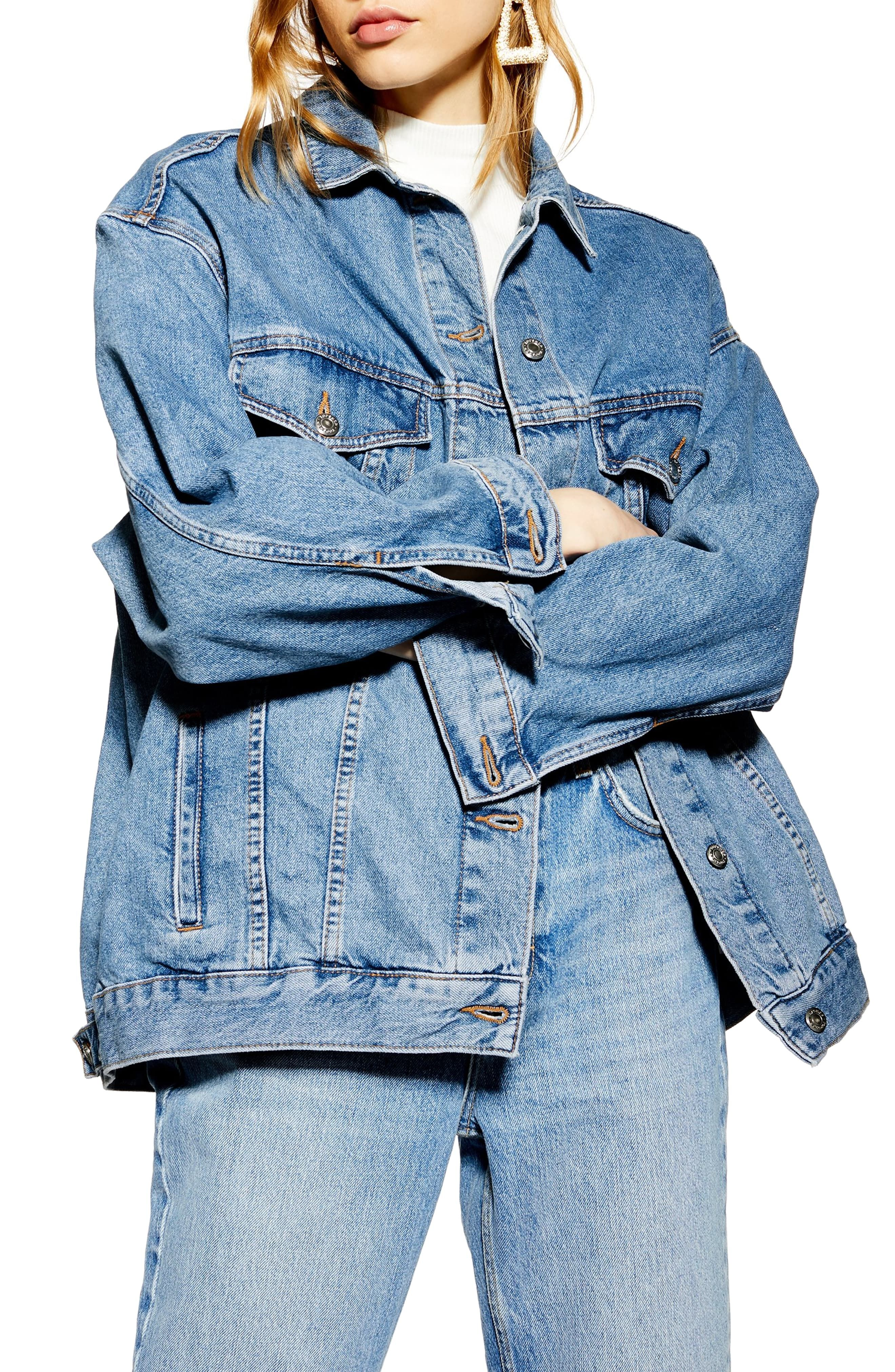 Women S Topshop Oversize Denim Jacket Size 12 Us Fits Like 14 Blue Oversized Denim Jacket Denim Jacket Women Jean Jacket Outfits [ 4048 x 2640 Pixel ]
