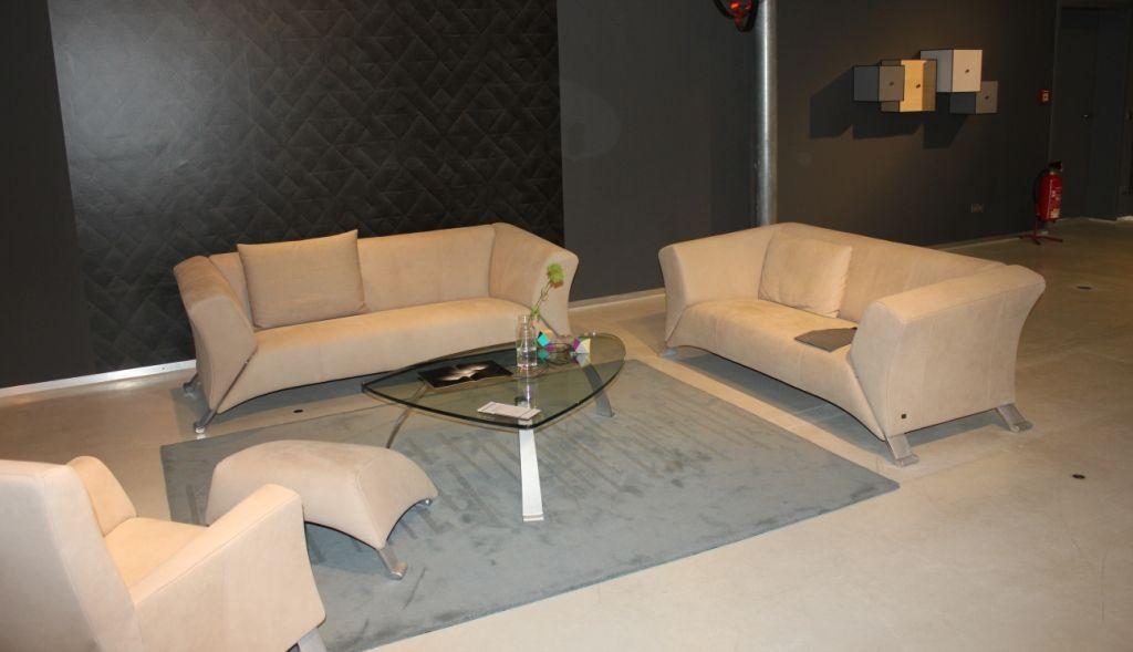 Design Bank Rolf Benz 322.Rolf Benz 322 Design Anita Schmidt Leather Like Chesterfield