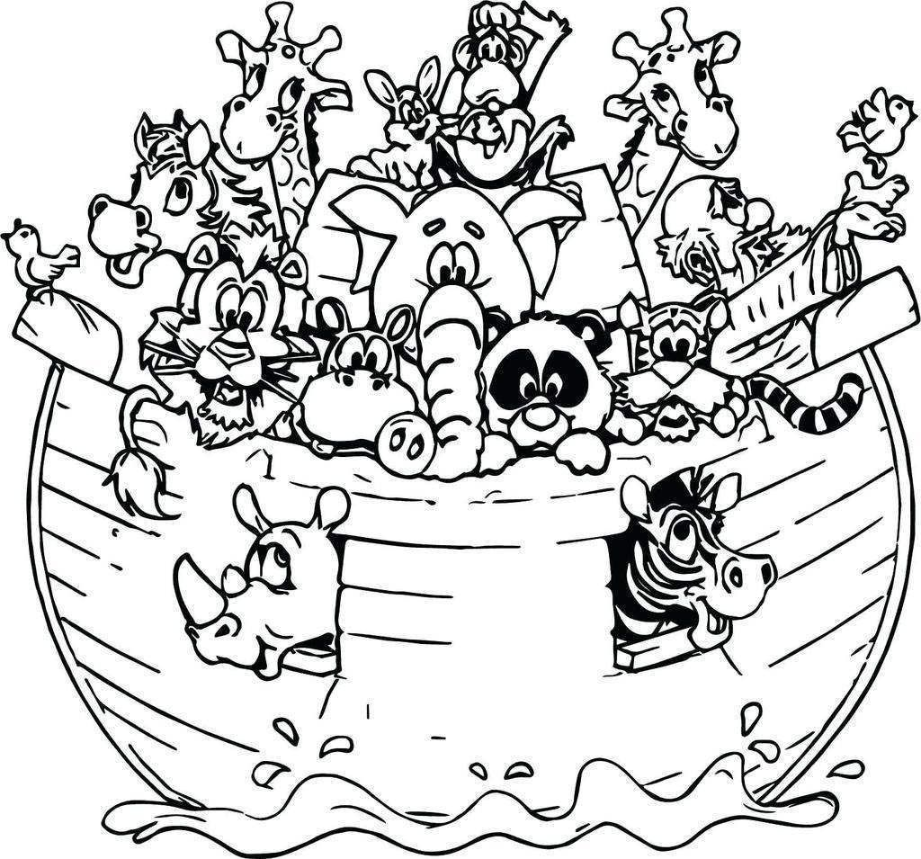 Noahs Ark Coloring Pages | Coloring pages, Bible coloring ...