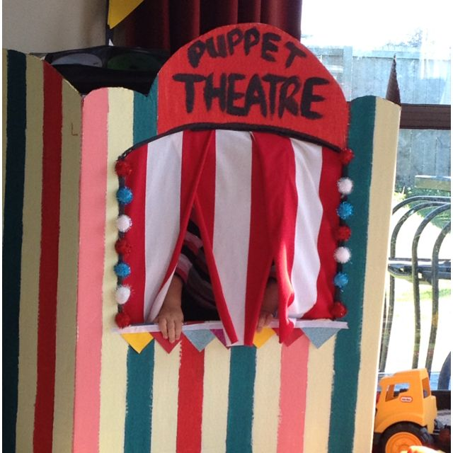 Pin By Card Board House On Cardboard Puppet Theatre