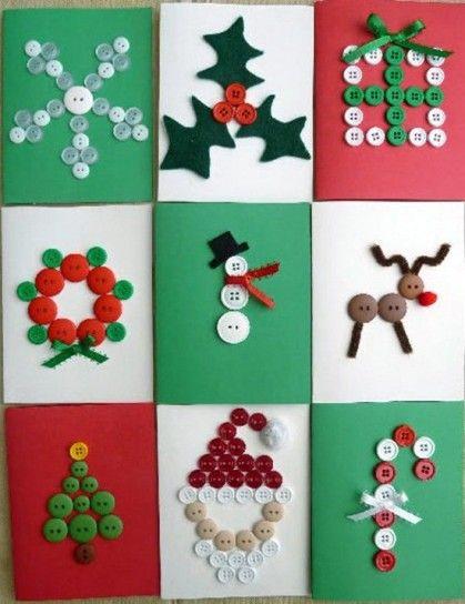 Postales de Navidad Originales Hechas a Mano Postales de Navidad ...
