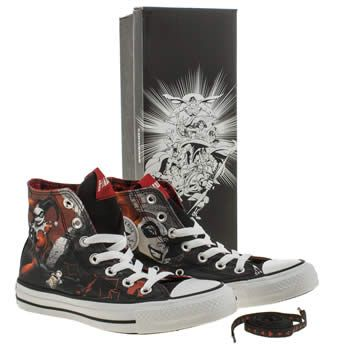 73ad3a05b818 womens converse black   red all star harley quinn trainers. My new  favourite shoes