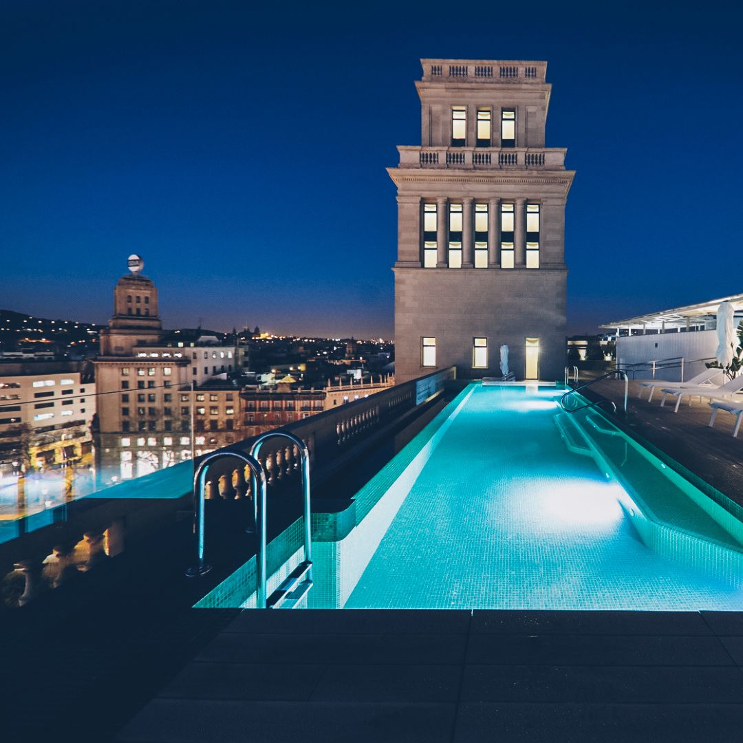 Barcelona From The Sky City Hotel Urban Hotels Destin Hotels