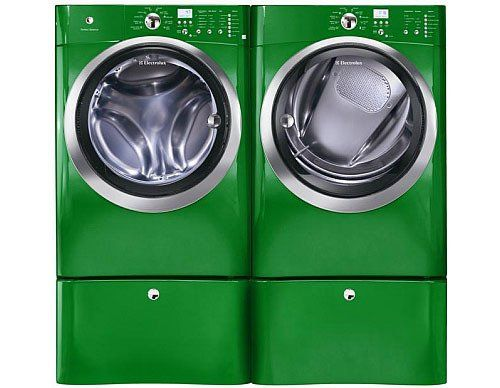 Rainbow Roundup The New Palette Of Colors For Washers Dryers Green Appliances Green Laundry Electrolux Washer