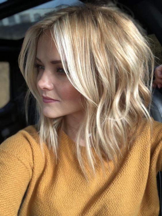 27 Cute Haircuts For Shoulder Length Hair Hair Pinterest Păr