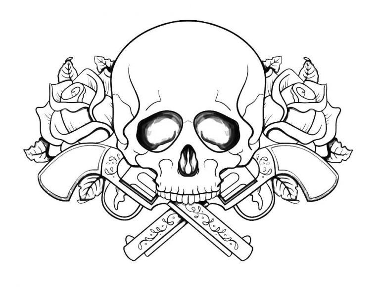 Free Printable Coloring Pages For Adults Skulls Display